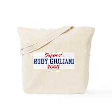Support RUDY GIULIANI 2008 Tote Bag