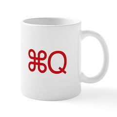 Command-Q mug