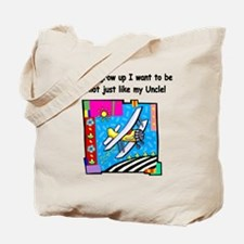 Airplane Pilot Uncle Tote Bag