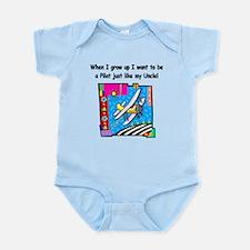 Airplane Pilot Uncle Infant Bodysuit