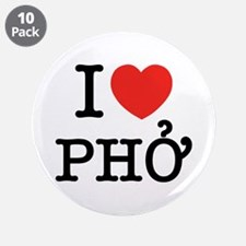 "I Love (Heart) Pho 3.5"" Button (10 pack)"