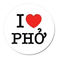 I Love (Heart) Pho Round Car Magnet