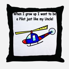 Helicopter Pilot Uncle Throw Pillow