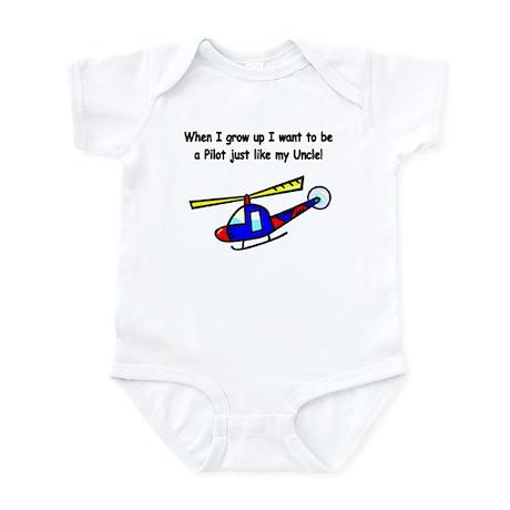 Helicopter Pilot Uncle Infant Bodysuit