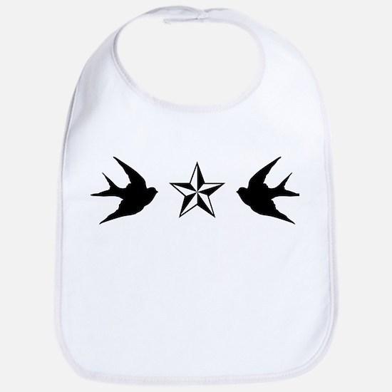 Swallows And Stars Bib