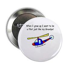Helicopter Pilot Grandpa Button