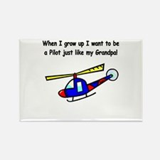 Helicopter Pilot Grandpa Rectangle Magnet