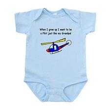 Helicopter Pilot Grandpa Infant Bodysuit