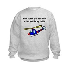 Helicopter Pilot Daddy Sweatshirt
