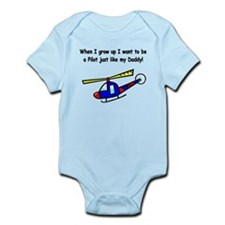 Helicopter Pilot Daddy Onesie