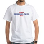 Support ORION KARL DALEY 2008 White T-Shirt