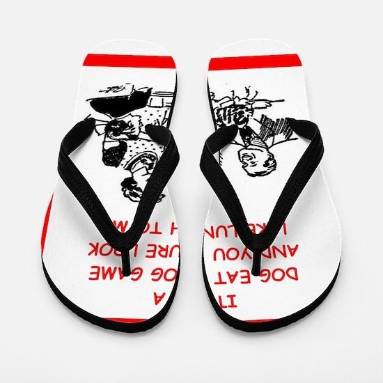 dog eat dog 4 Flip Flops