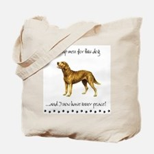 """Chessie """"Giving Up Men"""" Tote Bag"""