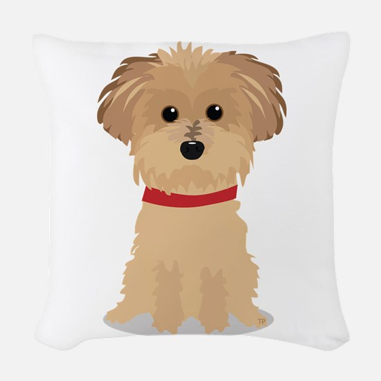 Terrier Puppy Woven Throw Pillow
