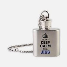 Funny Keep calm and jig on Flask Necklace