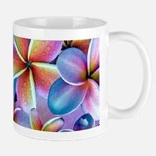 Rainbow Plumeria Mugs