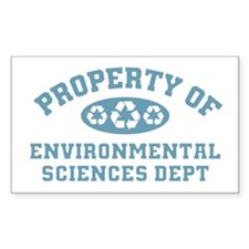 Property Of Environmental Sciences Decal