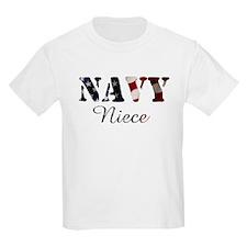 Navy Niece Flag T-Shirt