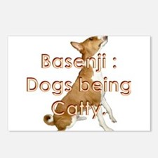 Basenji: Dogs being Catty Postcards (Package of 8)