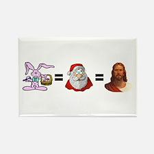 Bunny=Santa=Jesus Rectangle Magnet