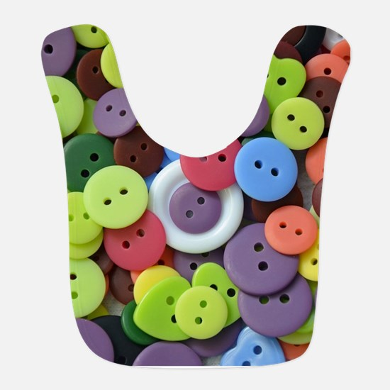 Colorful assorted buttons Bib