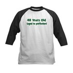 48 Years Old (perfection) Kids Baseball Jersey