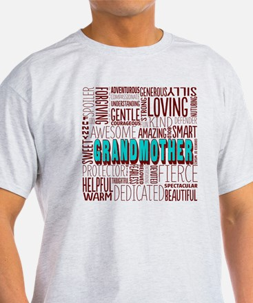 Grandmother Word Cloud T-Shirt