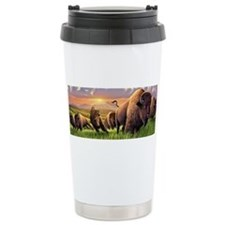 Cute Bison Travel Mug