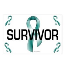 Ovarian Cancer Survivor 1.3 Postcards (Package of