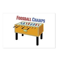 Foosball Champs Postcards (Package of 8)