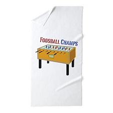 Foosball Champs Beach Towel