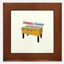 Foosball Champs Framed Tile