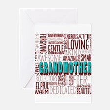Grandmother Word Cloud Greeting Cards