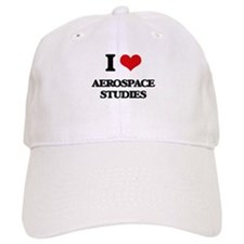I Love Aerospace Studies Baseball Cap