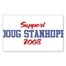 Support DOUG STANHOPE 2008 Rectangle Decal