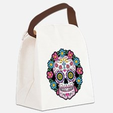 Dia de los Muertos Skull Canvas Lunch Bag