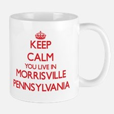 Keep calm you live in Morrisville Pennsylvani Mugs
