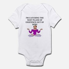 buddhist yoga t-shirts Infant Bodysuit