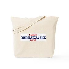 Support CONDOLEEZZA RICE 2008 Tote Bag