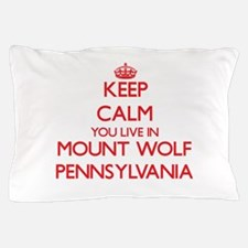 Keep calm you live in Mount Wolf Penns Pillow Case