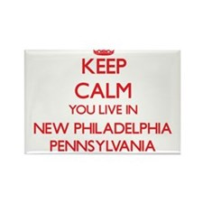 Keep calm you live in New Philadelphia Pen Magnets
