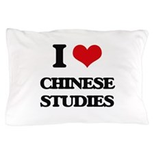 I Love Chinese Studies Pillow Case