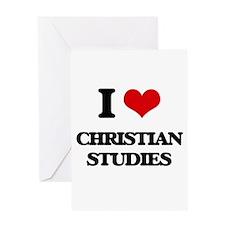 I Love Christian Studies Greeting Cards