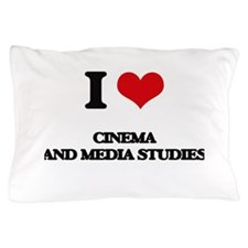 I Love Cinema And Media Studies Pillow Case