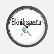 Bikini Inspector Wall Clock