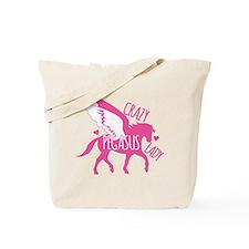Crazy Pegasus Lady Tote Bag