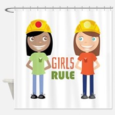 Girls Rule Shower Curtain