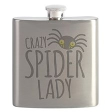 Crazy Spider lady Flask