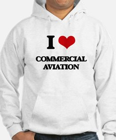 I Love Commercial Aviation Hoodie