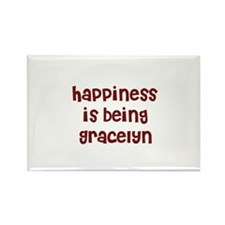 happiness is being Gracelyn Rectangle Magnet